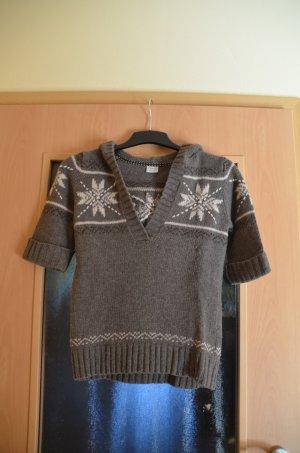 Esprit Norwegian Sweater grey brown-natural white wool