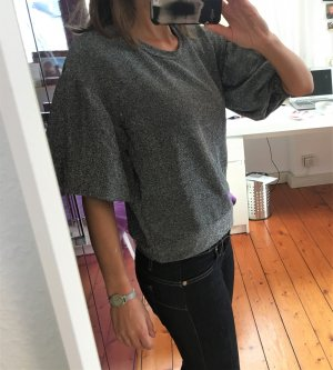 Rinascimento Jersey de manga corta gris-gris oscuro Algodón