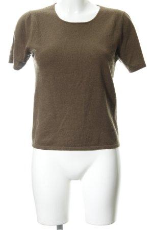 Short Sleeve Sweater ocher casual look