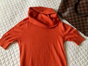 Maglione a maniche corte arancione scuro Cotone