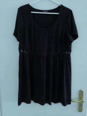 Kurzarmschlupfkleid schwarz von Warehouse