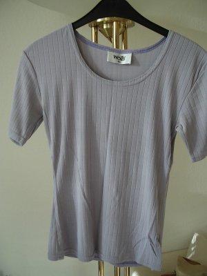 Wallis Camisa acanalada púrpura Licra