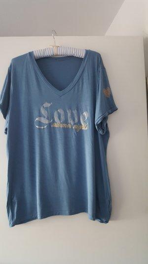 Camiseta estampada azul pálido