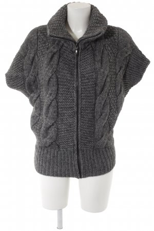 Short Sleeve Knitted Jacket grey flecked casual look