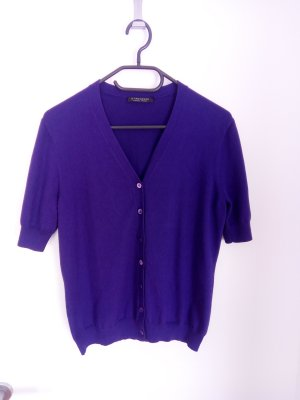 Strenesse Short Sleeve Knitted Jacket blue violet