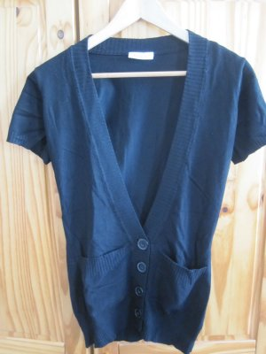 C&A Short Sleeve Knitted Jacket black mixture fibre
