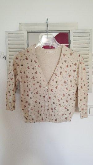 Zara Knit Short Sleeve Knitted Jacket natural white