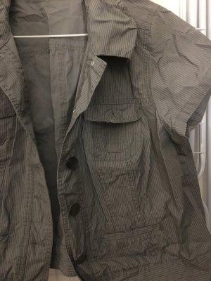 Denim Vest ocher-black brown cotton
