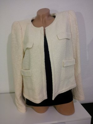 Zara Short Blazer cream cotton