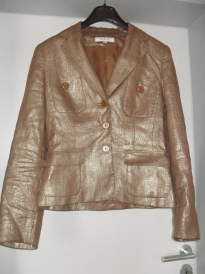 Kurzblazer in Bronze - chic - Leinen