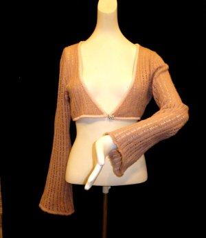 Bolero lavorato a maglia rosa antico-rosa pallido Tessuto misto