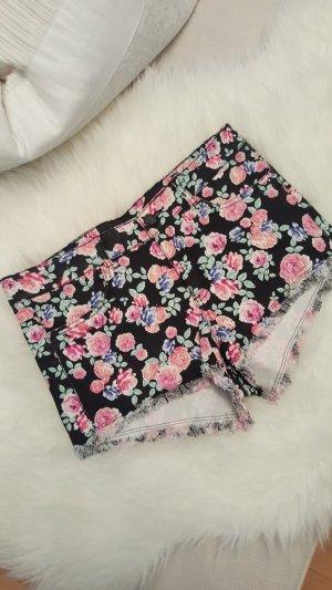 kurze Blumen Hotpants