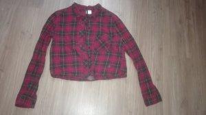 H&M Chemise noir-rouge