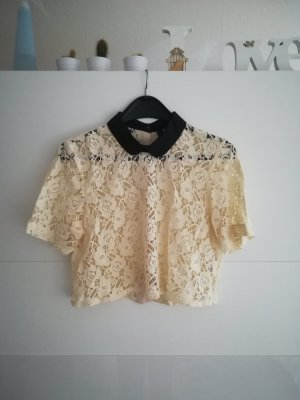 kurze Bluse (aus Spitze)
