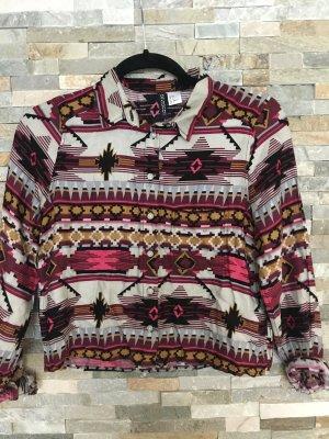 Kurze Bluse im Azteken-Design von H&M in xxs
