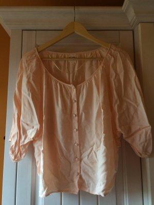 Kurze Bluse in puderrosa von Monki