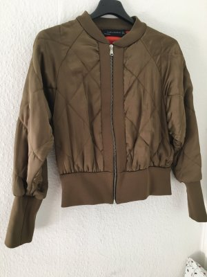 Kurze Bomberjacke Zara Khaki