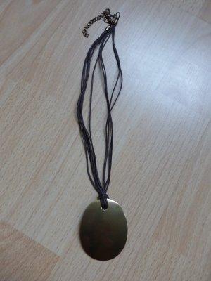 kurze, braun-goldene Halskette