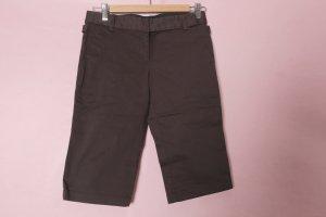 Kurze braune Stoffhose / Caprihose NEU von Zara Basic 34-36