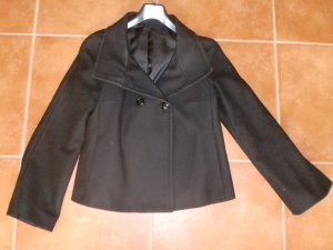 Benetton Pea Jacket black wool