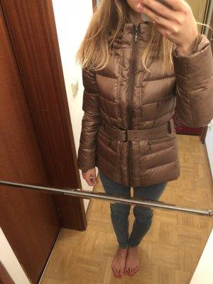 Zara Chaqueta de plumón marrón claro