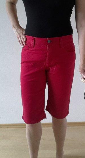 C&A Pantalón corto de tela vaquera rojo
