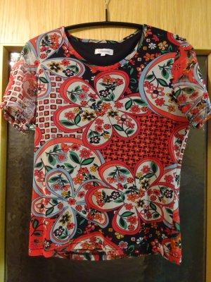 Kurze florale bunte Bluse von Zabaione