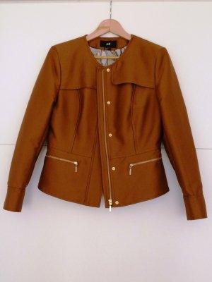 Kurze Frühlings-Jacke Größe 40 cognacfarben