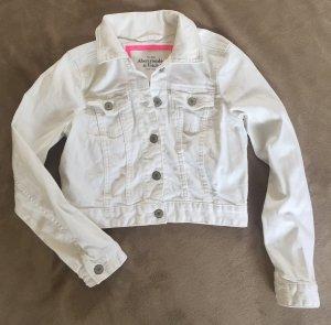 Abercrombie & Fitch Veste en jean blanc coton