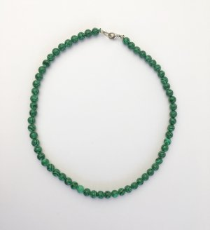 Pearl Necklace forest green-lime-green