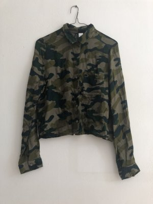 Kurze H&M Bluse Military Muster Grosse 38
