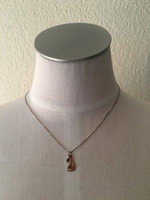Kurze Halskette mit kleinen Anhängern aus 925 Silber