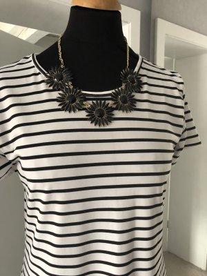 Kurze Halskette schwarz Statementkette Blüten