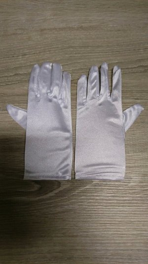 Evening Gloves white mixture fibre