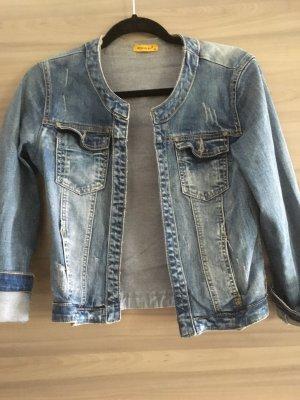Kurze helle  Jeans Jacke