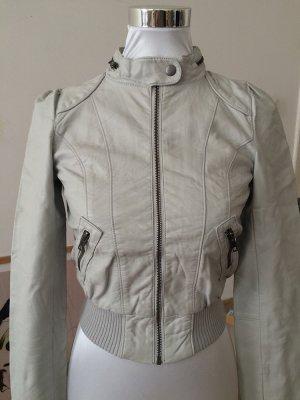 H&M Blouson grigio chiaro-bianco