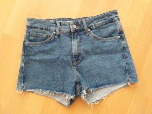 Mavi Jeans Co. Short taille haute bleu