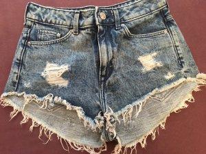 Kurze High Waist Jeansshorts