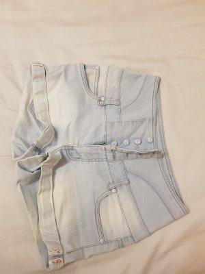 Blind Date Hoge taille jeans lichtblauw-wit