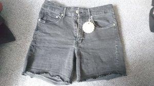 Short gris anthracite coton