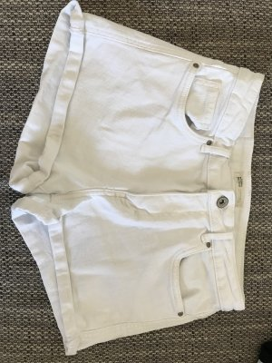 Zara Trafaluc Denim Shorts white
