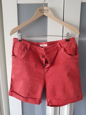Denim Shorts red