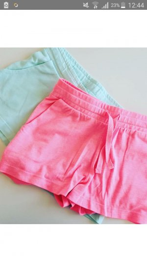 H&M Short Trousers neon pink-baby blue
