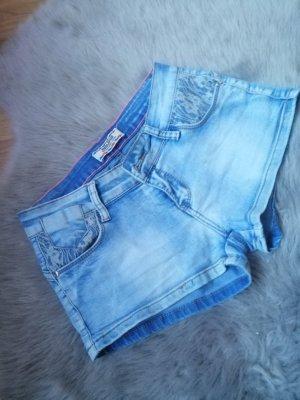 Pantalon cinq poches bleu azur