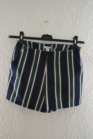 Kurze Hose 70er Gestreift Retro Shorts