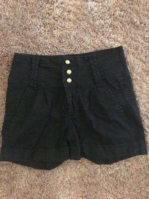 Pieces Short taille haute noir