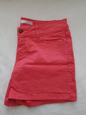 Promod Pantalón corto de tela vaquera salmón-rosa