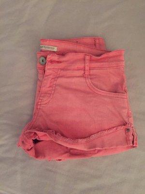 TRF Denim Shorts pink