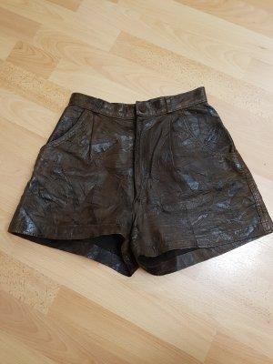 Pantalón de cuero marrón-marrón-negro