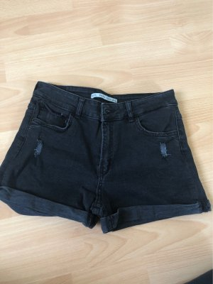 Bershka Hoge taille broek zwart